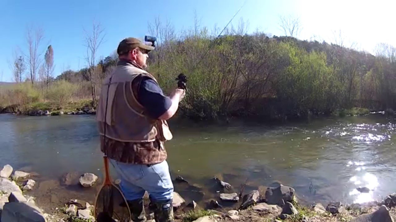 Trout fishing canoe creek state park pa youtube for Pa out of state fishing license