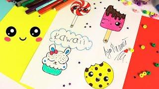 DIY KAWAII рисунки / Как нарисовать КАВАЙНЫЕ СЛАДОСТИ #2 / ЛумПланет