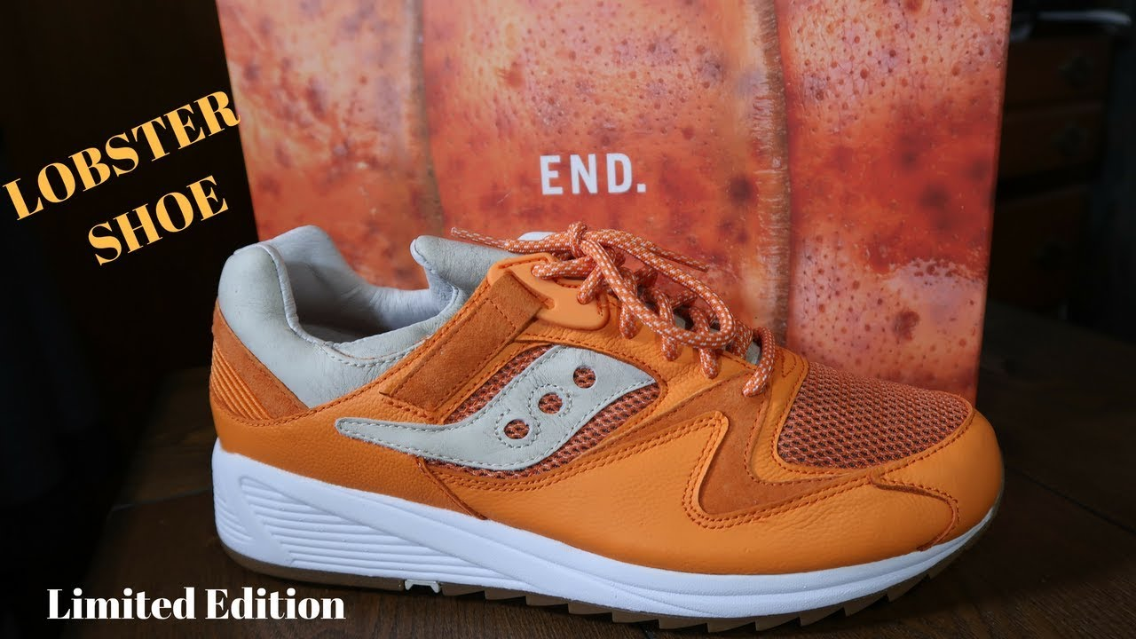 254c41107302 Sold out Saucony Limited Edition End X Grid 8500 Lobster Shoe - YouTube