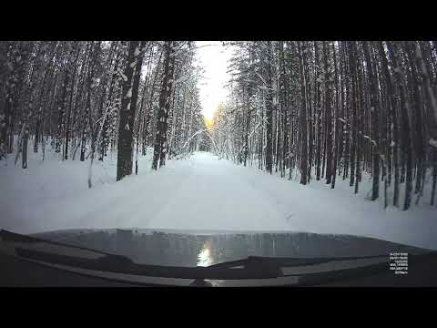 УАЗ ПАТРИОТ. Зимняя дорога на видеорегистраторе X-COP 9700
