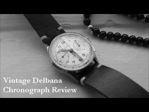 Review: Vintage Swiss Chronograph & 19mm Leather Strap
