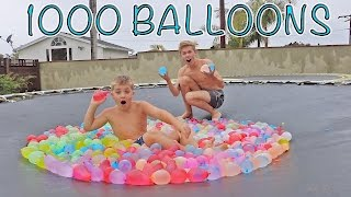 TRAMPOLINE VS 1000 WATER BALLOONS WITH TANNER FOX