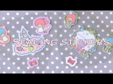 How I Seal and Plan my Sticker Resin Pieces  // VelvetWay