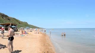 Пляж в Кучугурах(Наверняка все слышали название Кучугуры! А сейчас мы представляем вам видео пляжа Азовского моря в Кучугур..., 2014-06-29T09:52:49.000Z)