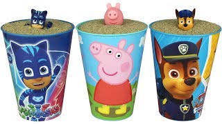 Super Surprise Mashems Paw Patrol Peppa Pig PJ Masks Surprise Toys Sandbox Play Doh Molds for Kids