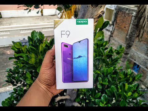 OPPO F9 (Indian Retail Unit) - Quick Unboxing , Hands On & Benchmarks Video !