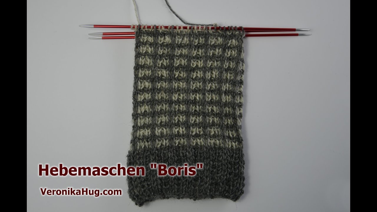 socken stricken sockenmuster hebemaschen boris veronika hug youtube. Black Bedroom Furniture Sets. Home Design Ideas