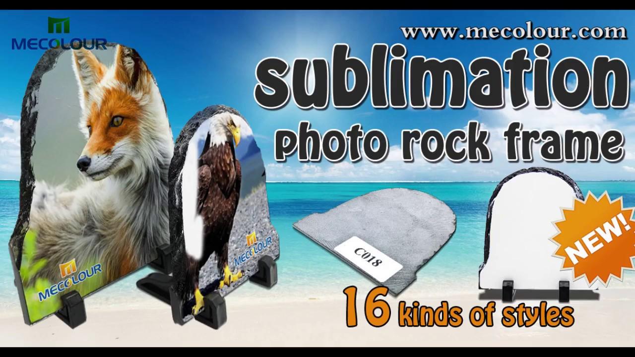 How to make photo on Mecolour sublimation rocky Rock Slates/Ardósias