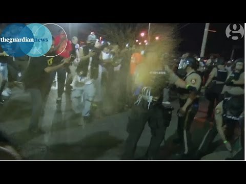 Ferguson, Missouri 2015: police clash with protesters as dozens arrested