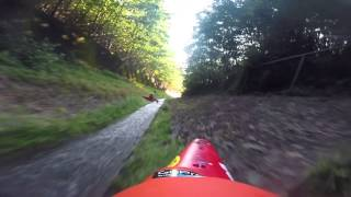 Kayakers Lose Control in Drainage Ditch