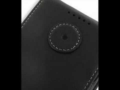 PDair Leather case for HTC P6500 - Flip Type (Black)