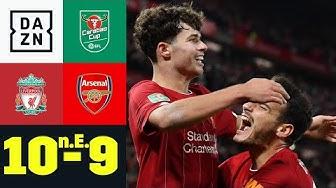 Wahnsinnsspiel! Reds gewinnen 10-Tore-Spektakel: Liverpool - Arsenal 10:9 n.E. | Carabao Cup | DAZN