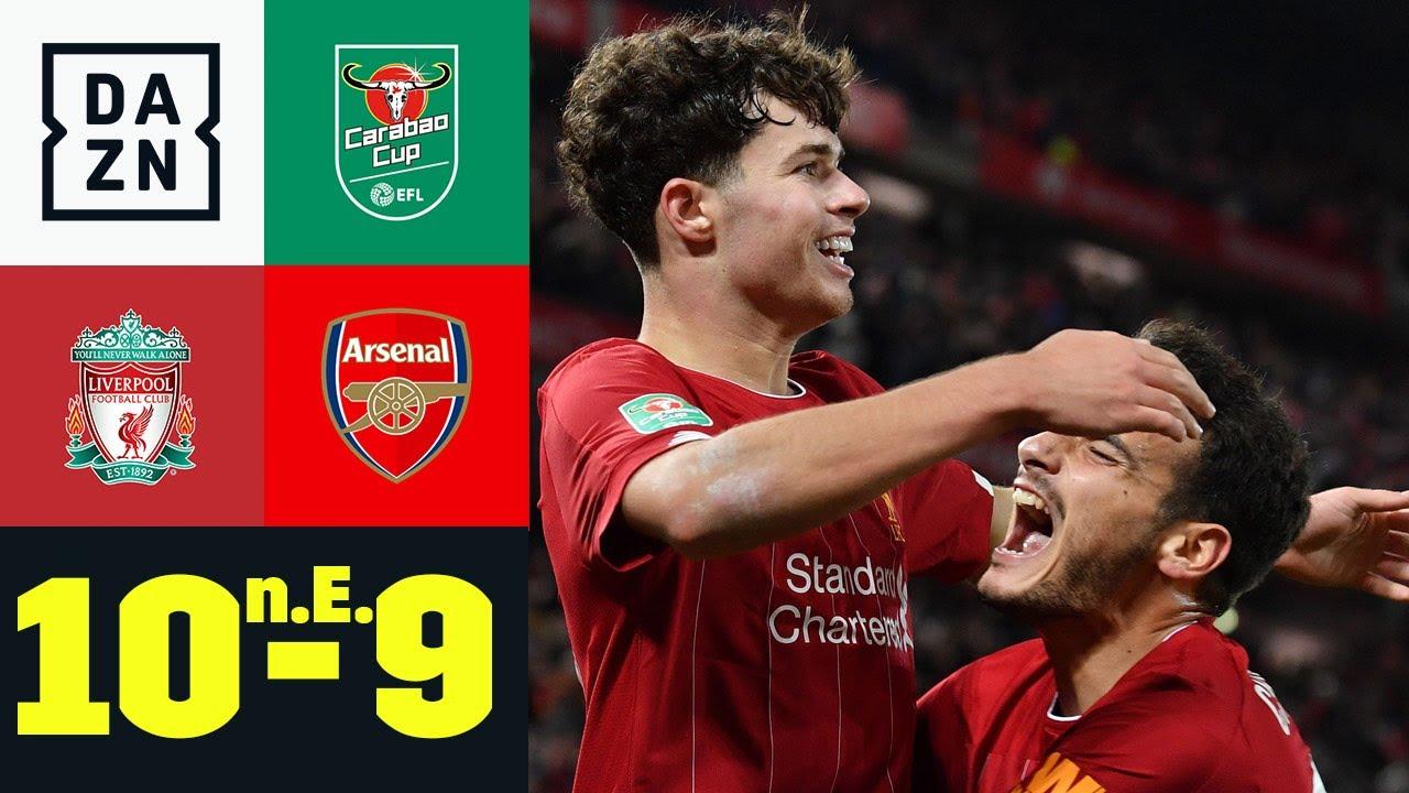 Download Wahnsinnsspiel! Reds gewinnen 10-Tore-Spektakel: Liverpool - Arsenal 10:9 n.E. | Carabao Cup | DAZN