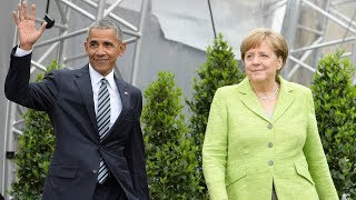 Barack Obama joins Angela Merkel in Berlin - watch live