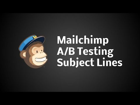 Mailchimp AB Testing Email Subject Lines