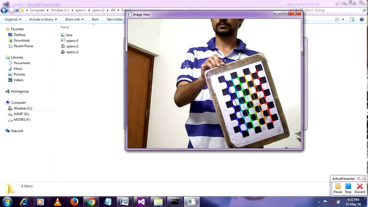 Camera Calibration Using OpenCV with source code
