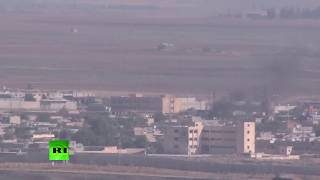 Syrian border from Akcakale as Turkey starts its op
