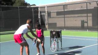 Teaching the Serve to Beginners is Quick, Easy and Fun with ServeMaster.