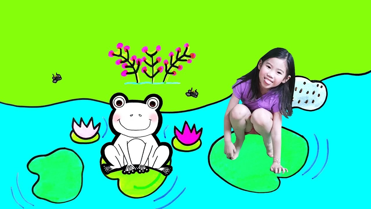 How to draw Cute Frog   Glitter Frog coloring pages Learn ...