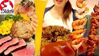2980円で肉づくしのコースメニューを満腹までガツガツ食べる【スイーツちゃんねるあんみつの食レポ】