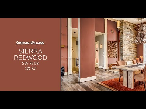 October 2017 color of the month sierra redwood sherwin for Sherwin williams color of the month october 2017
