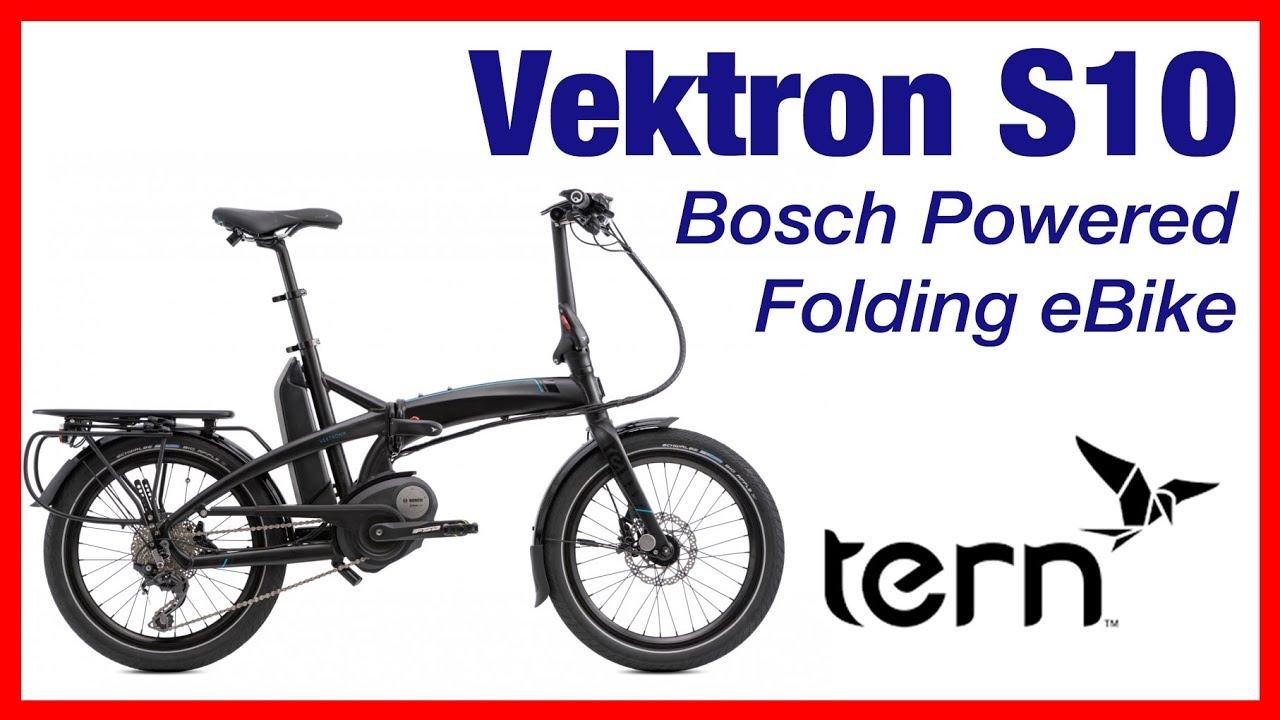 Tern Vektron S10 Folding eBike - Review - YouTube