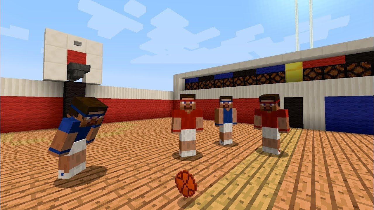 Basketball in Minecraft Hoppers  YouTube
