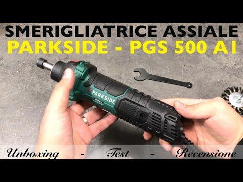 Review of ASSYER GRINDER. parkside lidl. PGS 500 A1. 500W pen. Die grinder. 30000 rpm