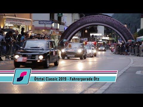Die Fahrerparade beim Orts Grand Prix der Ötztal Classic 2019