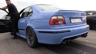 BMW M5 E39 V8 Engine w/ Supersprint Exhaust - BRUTAL Revs & Drag Racing!