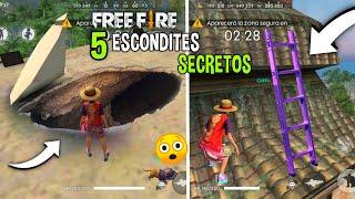 5 NUEVOS* ESCONDITES SUPER SECRETOS EN FREE FIRE - LOS MEJORES ESCONDITE EN FREE FIRE
