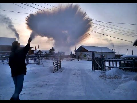 -56°C (-69°F) from Yakutsk to Oymyakon in winter - THE MOVIE