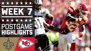Saints vs. Chiefs | NFL Week 7 Game Highlights