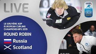 Russia v Scotland - Men's round robin - Le Gruyère AOP European Curling Championships 2019