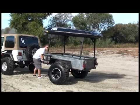 Used Off Road Trailer Overland 4x4 Jeep Ready Youtube