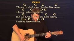 Amazing Grace (Hymn) Strum Guitar Cover Lesson in G with Chords/Lyrics