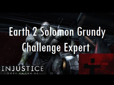 Injustice Gods Among Us iOS - Earth 2 Solomon Grundy Challenge Full Expert Difficulty