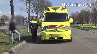 Motorrijder gewond na crash in Klazienaveen