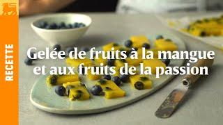 Gelée de fruits à la mangue et aux fruits de la passion