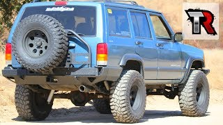 Jeep XJ Rear Bumper and Tire Carrier Install - Smittybilt XRC