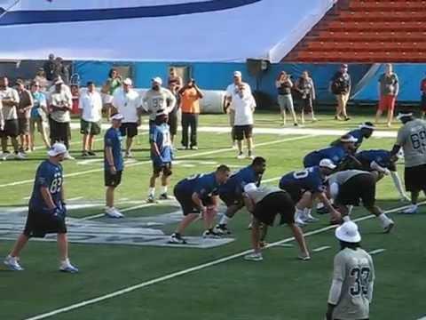 Drew Brees to Larry Fitzgerald  @ Pro Bowl 2013