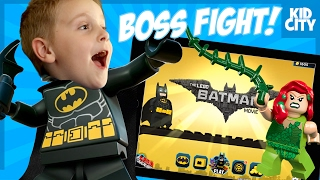 Poison Ivy Boss Fight! LEGO Batman Movie Mobile Game Play | KIDCITY