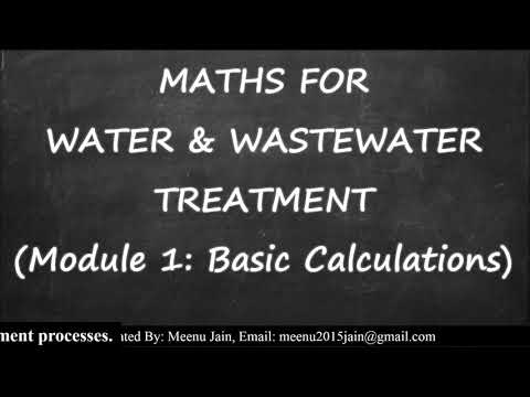 Math For Water And Wastewater Treatment || Wastewater Treatment Calculation
