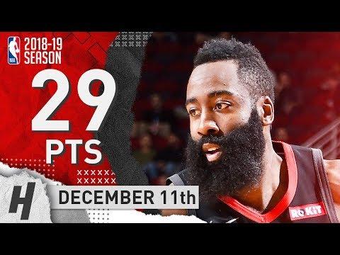 James Harden Full Highlights Rockets vs Blazers 2018.12.11 - 29 Pts, 4 Ast!