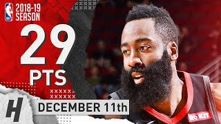 James Harden Full Highlights Rockets vs Blazers 2018.12.11 - 29 Pts, 4 Ast!
