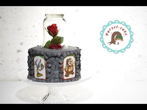 Beauty And The Beast Cake/ Die Schöne Und Das Biest Torte/ Motivtorten/von  Purzel Cake