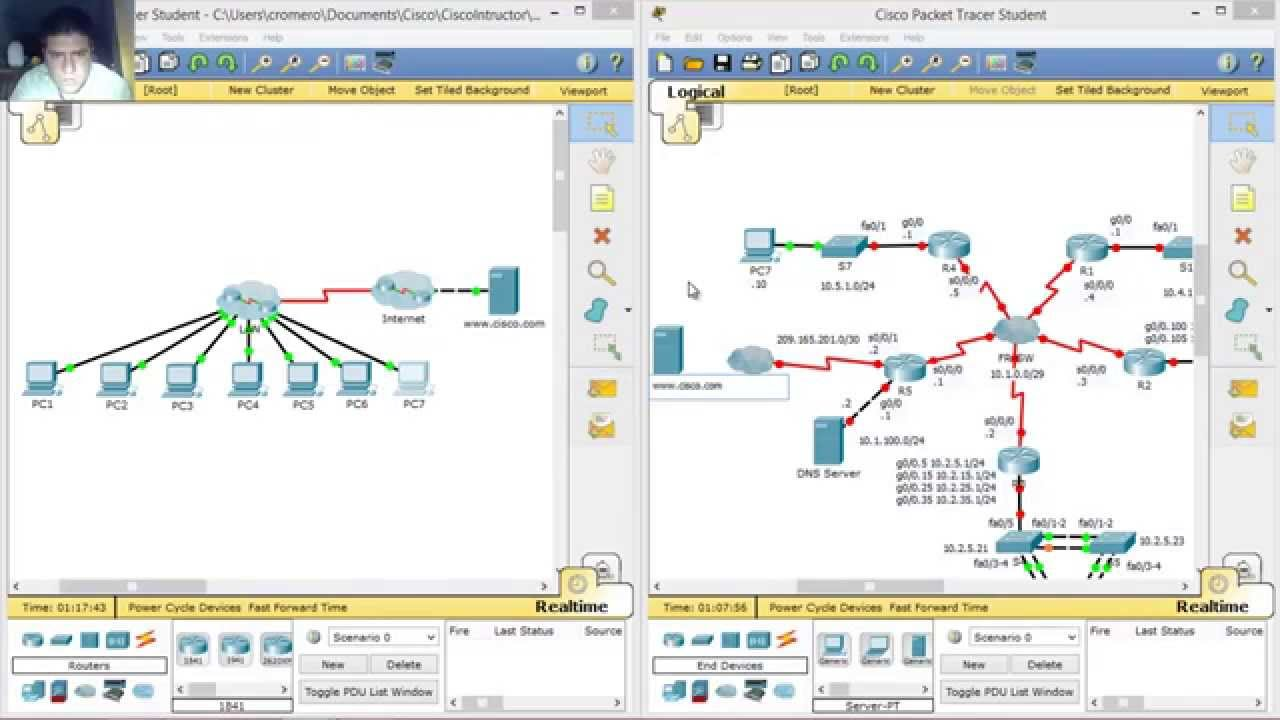 1.1 2.9 packet tracer documenting the network instructions