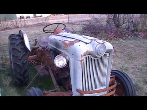 1954 Ford Jubilee NAA Cold Start and winterizing it for the cold weather