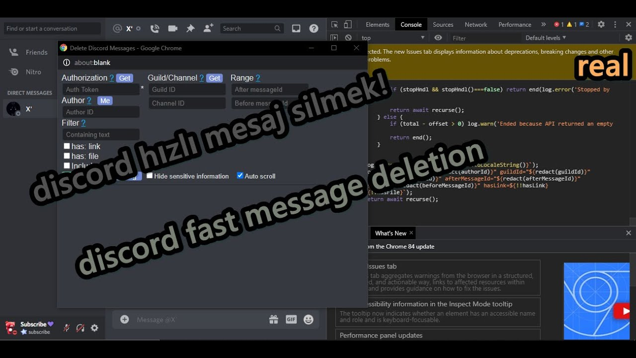 Discord Hızlı Mesaj Silme Yöntemi ( Discord Quick Message Deletion Method)