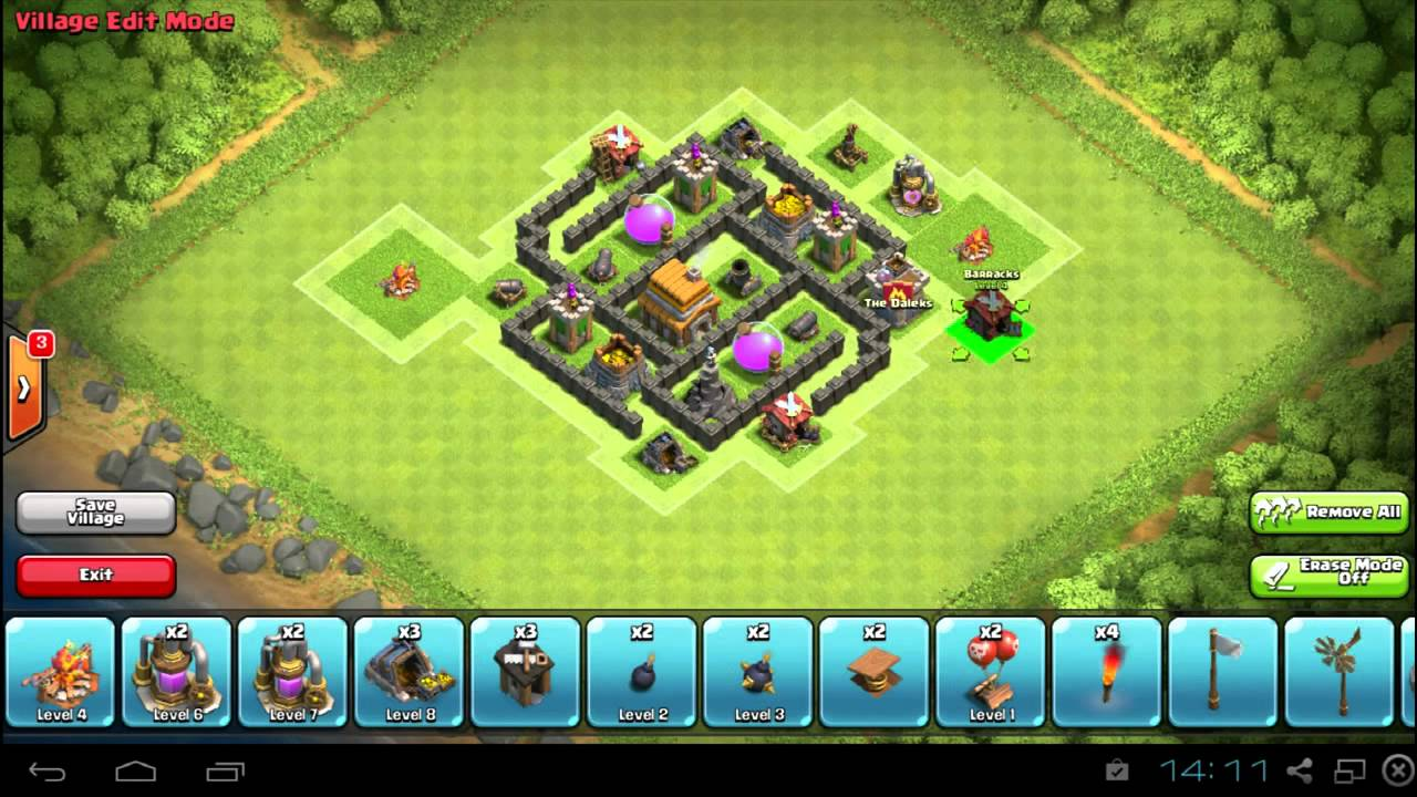 Best clash of clans th5 hybrid trap base new 2015 youtube